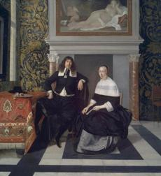"Eglon van der Neer's 17th-century ""Portrait of a Man and Woman in an Interior.''"